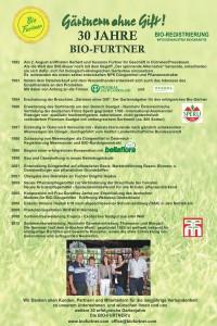 30 Jahre Bio Furtner biologische, naturgemäße Gartenbauprodukte