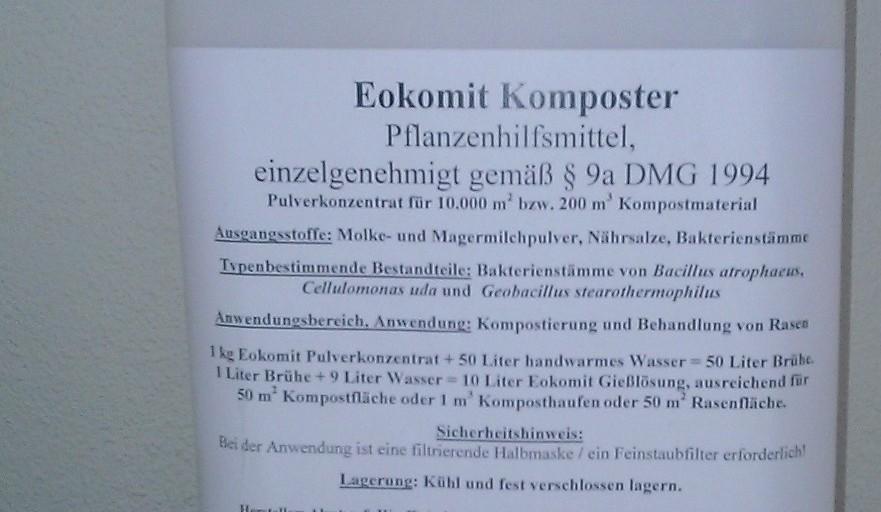 Eokomit Dr.Holzinger Bakterien wandeln organische Abfälle zu Humus um